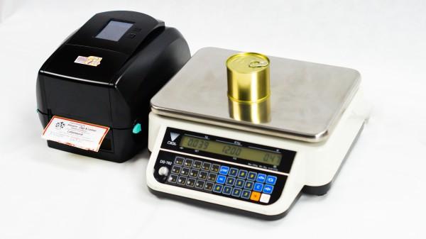 Etikettendrucksystem S-RT883i mit Waage