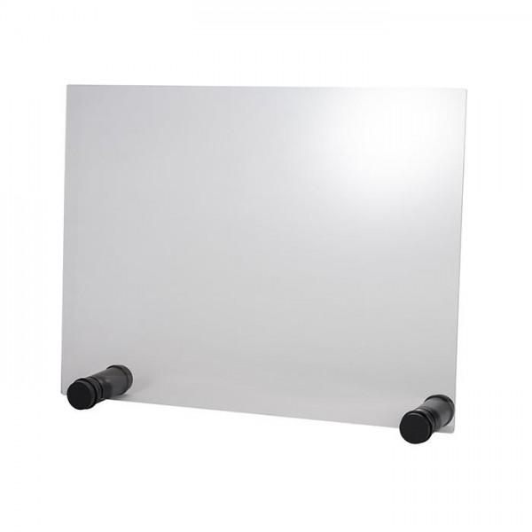 Hygieneschutzwand Round Black 75x57 cm - ohne Öffnung