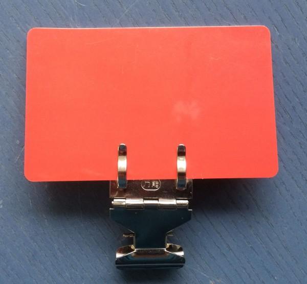 Preisschildhalter mit Greifklemme / Clip, beweglich ( 10 Stück )