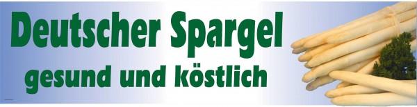 Standardbanner Motiv: Deutscher Spargel KLEIN 200x50 cm