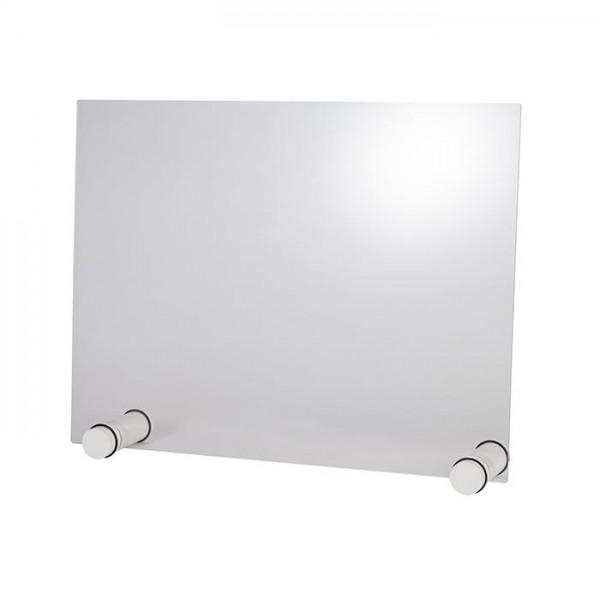 Hygieneschutzwand Round White 75x57 cm - ohne Öffnung