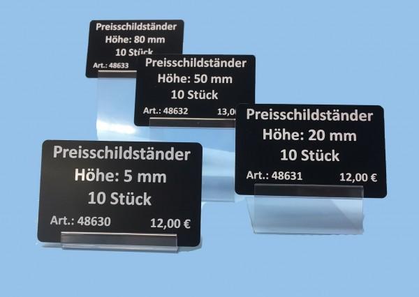 Preisschildständer aus PVC ( 10 Stück )