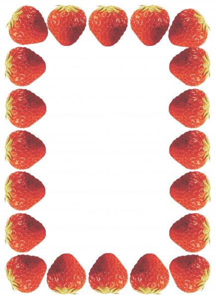 Erdbeer-Rand