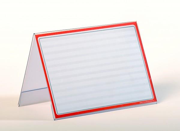 Dach-Aufsteller für Preisschilder, Querformat ( 10 Stück )
