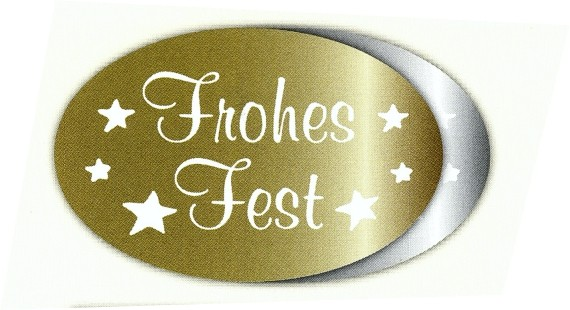 Frohes Fest 41x27mm