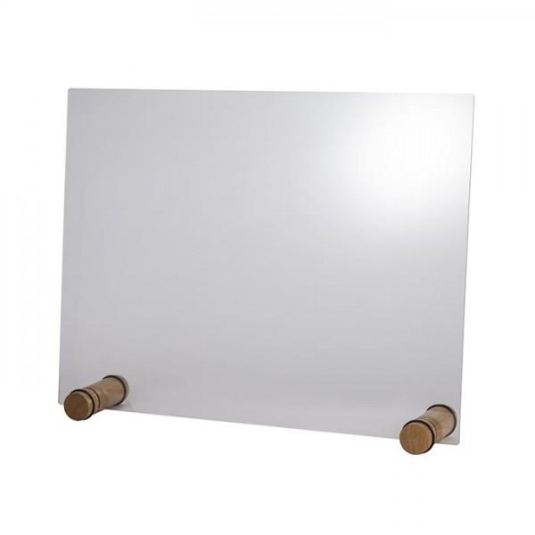 Hygieneschutzwand Round Oak 75x57 cm - ohne Öffnung