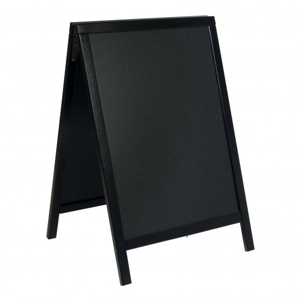 Gehwegaufsteller ECO-Wood, schwarz lackiert