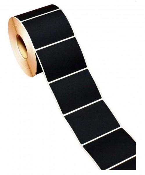 Etiketten 75x55mm Rechteck schwarz