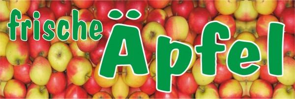 Standardbanner Motiv: Frische Äpfel 300x100 cm