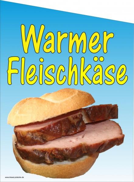Fahne Warmer Fleischkäse