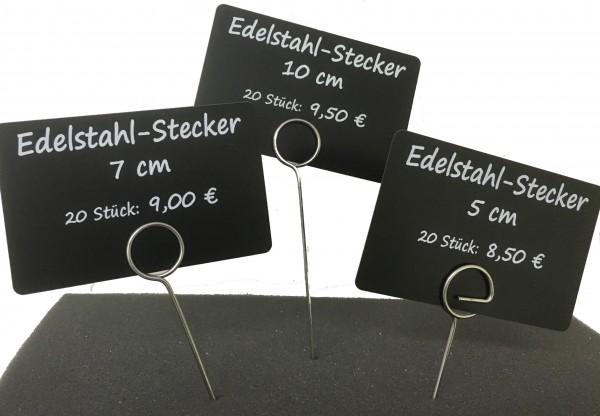 Edelstahl-Stecker kurz ( 20 Stück )