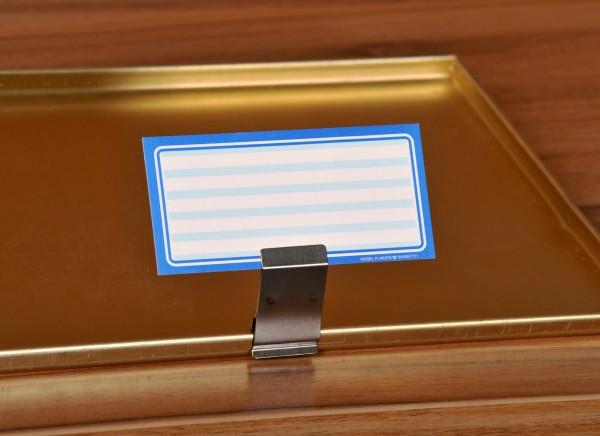 Preisschildhalter aus Edelstahl für Bleche mit kurzer Kante ( 5 Stück )
