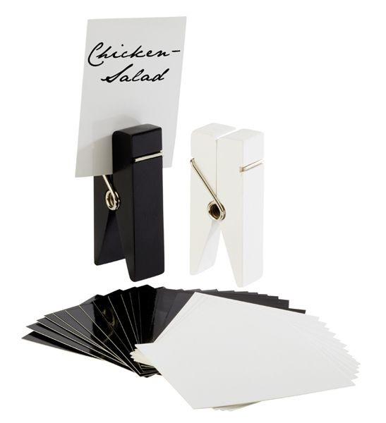 Kartenhalter Klammer schwarz