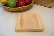 Zahlteller aus Holz