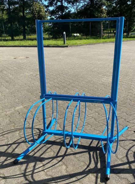 Fahrradständer mit Einschub ( 58x60 cm ), hellblau