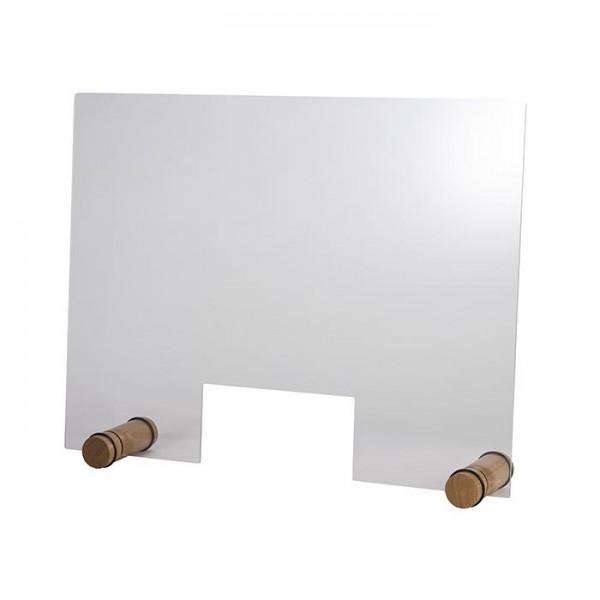 Hygieneschutzwand Round Oak 75x57 cm mit Öffnung