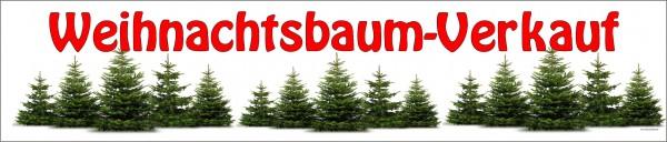 Standardbanner Motiv: Weihnachtsbaumverkauf KLEIN 250x50 cm
