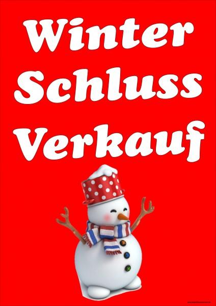 Winter-Schluss-Verkauf rot