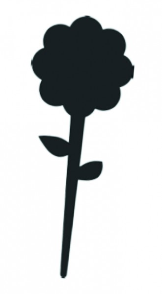 "Kreidetafel-Stecker ""Blume / Flower"" ( 5 Stück )"