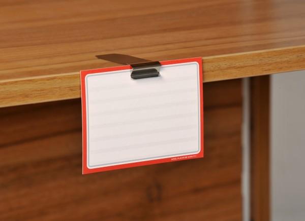 Preisschildhalter aus Edelstahl für Borten/Regale (waagerecht) 20mm ( 5 Stück )