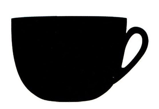 Silhouette-Tafel, Tasse inkl. Mini-Kreidemarker