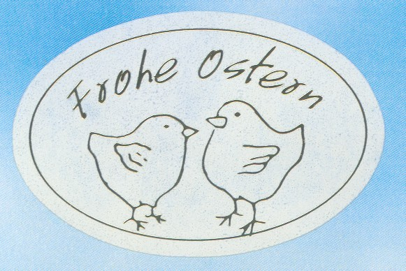 Frohe Ostern Oval