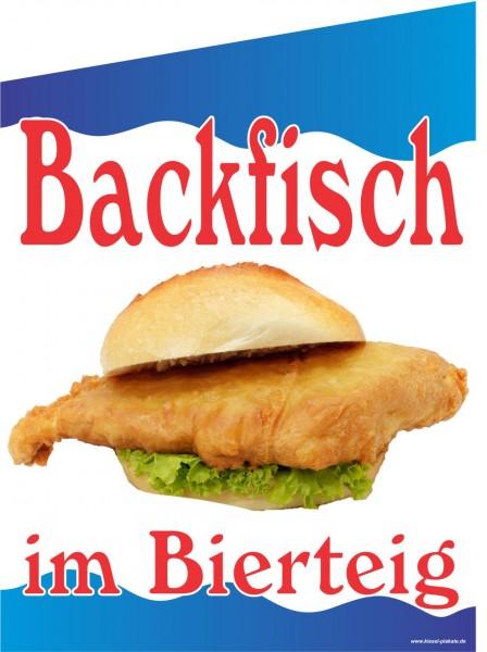 Fahne Backfisch im Bierteig