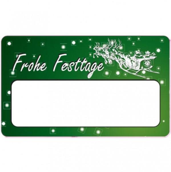 Eckig -Frohe Festtage- 50x30mm