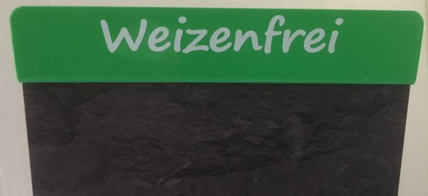 """Aktionsreiter für Preisschilder \""""Weizenfrei\"""" - 10 Stück"""