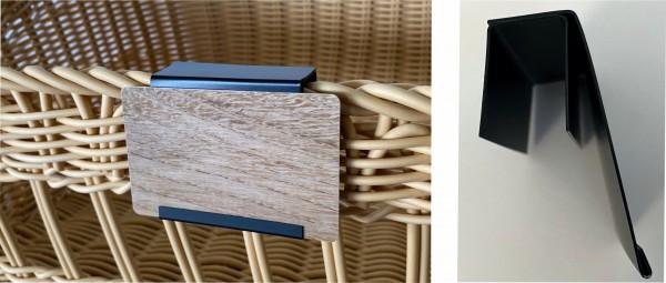 Tafel-Korb- oder Regalhalter - schräg - 5 Stück