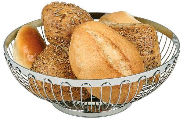 Brot- und Obstkorb aus Edelstahl