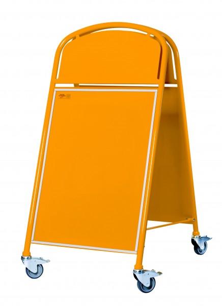 Straßenständer LOGO-MEGA, orange - mit kleinen Lackschäden / Beulen-Copy