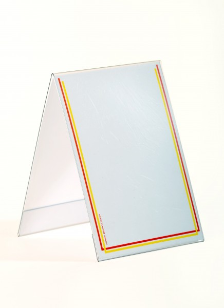 Dach-Aufsteller für Preisschilder, Hochformat