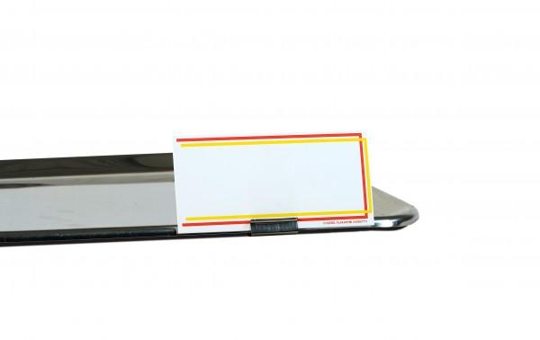 Preisschildhalter aus Edelstahl für Tabletts ( 5 Stück )