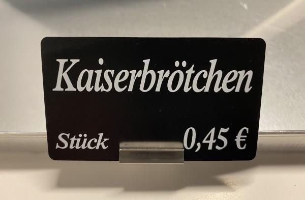 Blechhalter -Mini- aus Edelstahl für Bleche mit 1-3mm senkrechte Kanten ( 10 Stück )