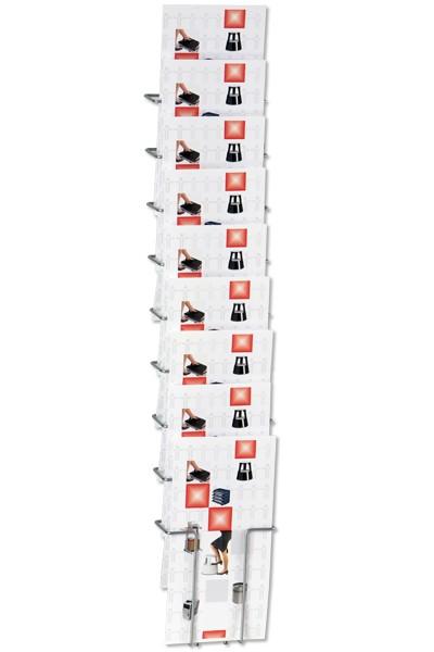 Prospekthalter Wall 10 10xDIN A4