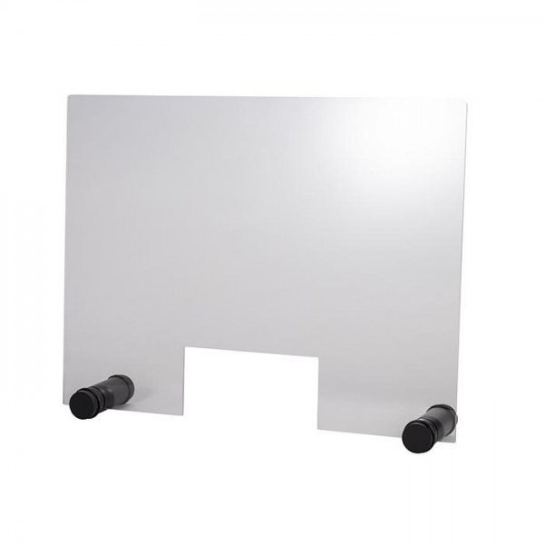 Hygieneschutzwand Round Black 75x57 cm mit Öffnung