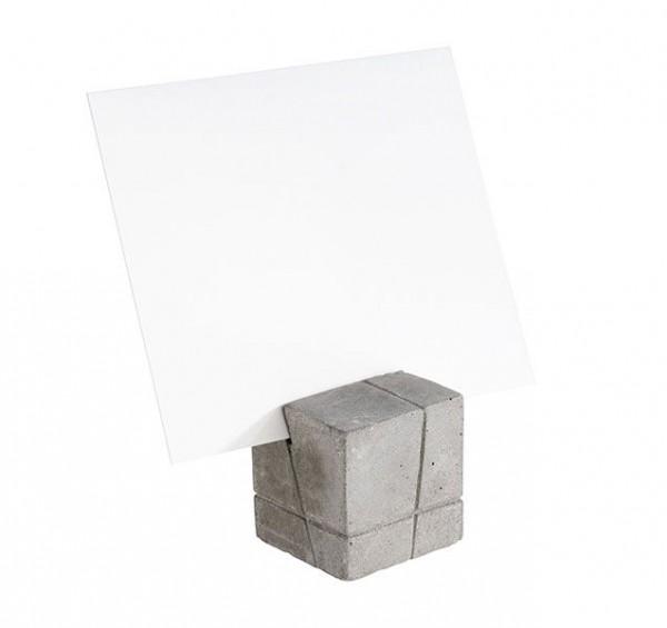 Kartenhalter Würfel aus Beton 4er Set