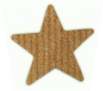 Stern 30x30 braun-natur
