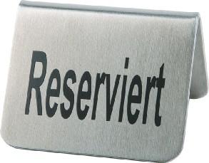 Tischaufsteller Reserviert