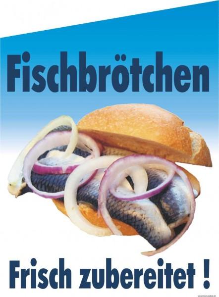 Fahne Fischbrötchen frisch zubereitet