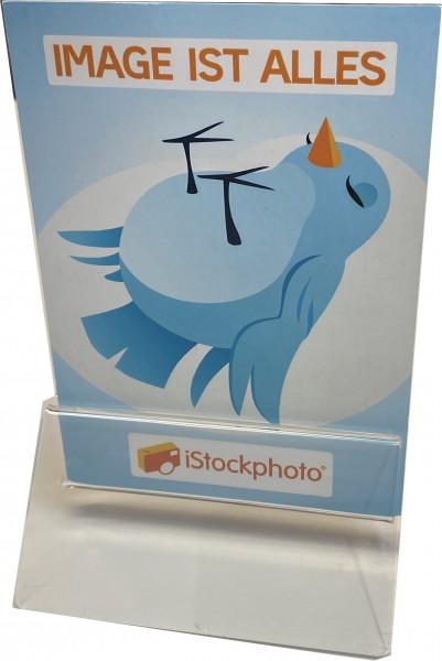 Kartenhalter aus Acrylglas