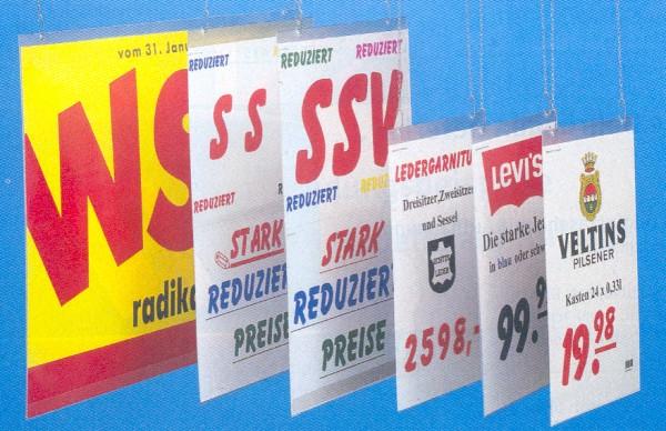 Plakatschutzhülle, Hochformat