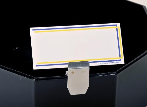 Preisschildhalter aus Edelstahl für Kunststoffbleche, Glasböden oder Salatschüsseln