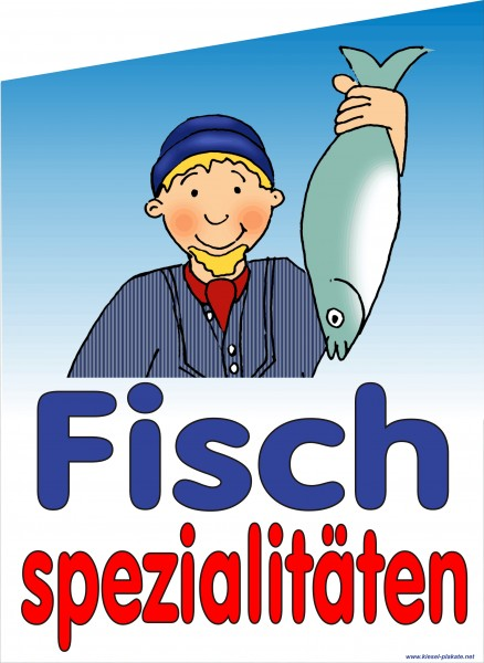Fahne Fischspezialitäten