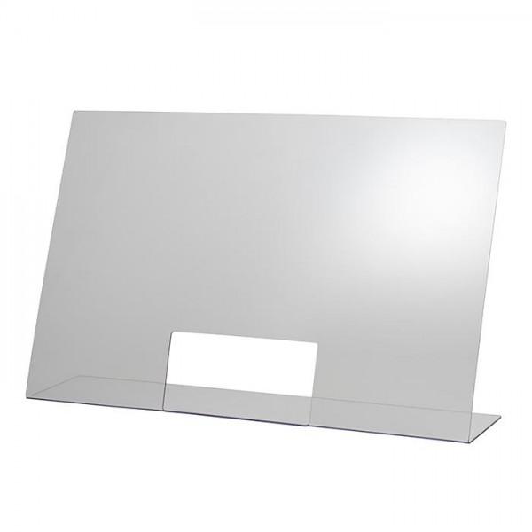 Hygieneschutzwand 75 x 48 cm mit Öffnung ( 25x12 cm )