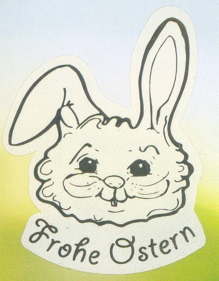 Frohe Ostern Hase gold