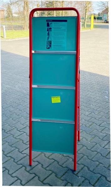 Straßenständer Eco-Small - 4-fach - rot ( Restposten )