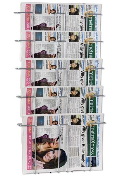 Prospekthalter Wall 5 für Zeitungen