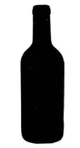 Silhouette-Tafel, Flasche inkl. Mini-Kreidemarker